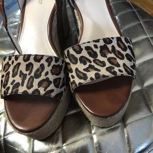 Leopard espadrille sandals